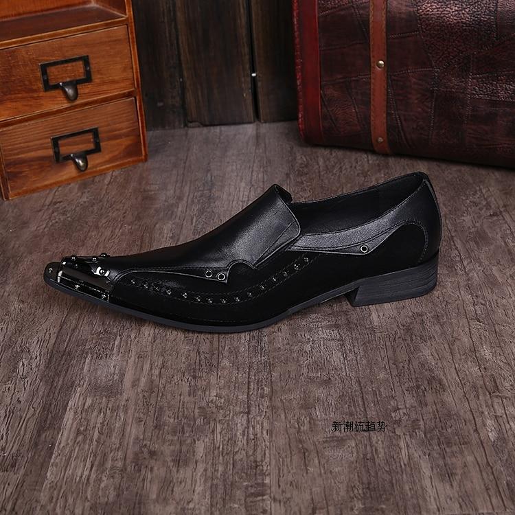 Rivets Casual Bout Pic Mode Marque Plat Médaille Zapatos Chaussures Beau Hommes Lacets 2015 As Pointu Hombre De Décoration Designer q4fnwOwg