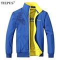 TIEPUS весенняя и осенняя новая мужская куртка, Повседневная модная двухсторонняя куртка с принтом, мужская спортивная верхняя одежда, размер L ~ 4XL, 5XL - фото