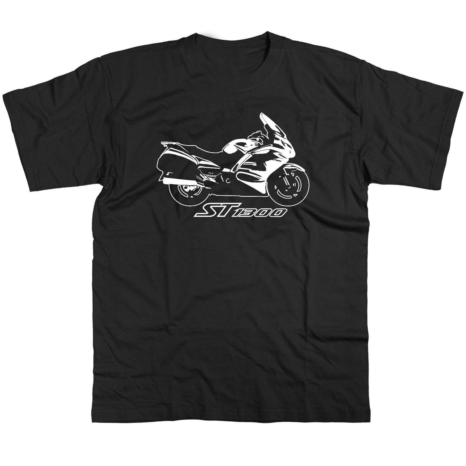 2018 New Summer Tee Shirt Japanese Motorcycle st1300 T Shirt Pan European Motorcycle Cool T-shirt
