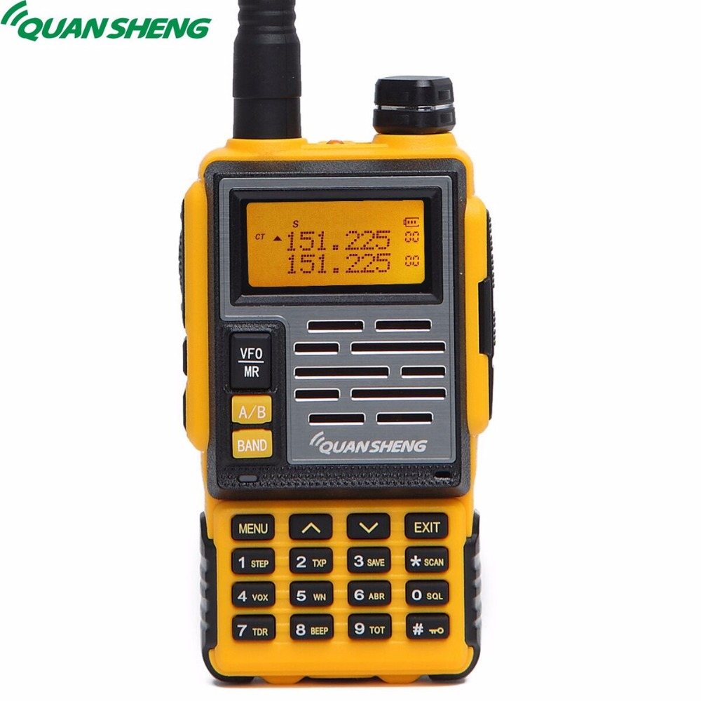 Quansheng TG-007 Talkie Walkie Dual Band UHF VHF DTMF FM HF Émetteur-Récepteur 10 KM Gamme Amateur radio portable CB Jambon 2 way Radio