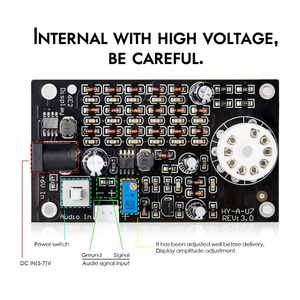 Image 5 - Nobsound HiFi Mini Magic Eye 6E2 EM87 Preamp หลอดเสียงตัวบ่งชี้ระดับ VU Meter Driver บอร์ดกรณี