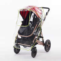 Universal carrinho de bebê capa de chuva bebê recém-nascido à prova dnewborn água windscreen dust shield com windows carrinhos carrinhos carrinhos de chuva