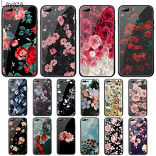 цена на Lavaza Relief Flower Tempered Glass Case for Apple iPhone 6 6s 7 8 Plus X 5 5S SE XS 11 Pro Max XR Cover
