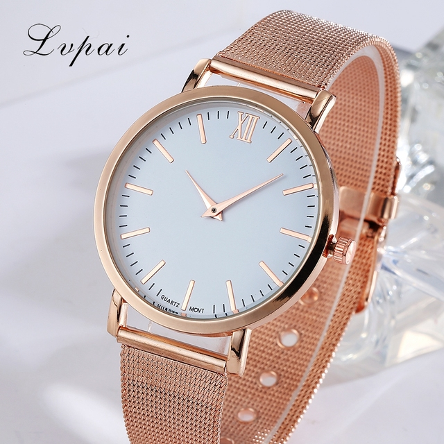 Lvpai Brand 2017 Luxury Women Gold Watch Fashion Bracelet Dress Watch Quartz Wristwatch Ladies Casual Sport Business Watch 3
