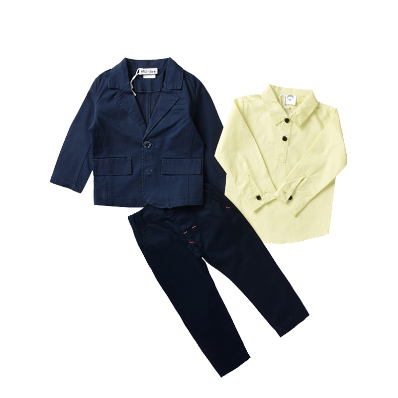 3PCS/Set Fashion Toddler Kids Baby Boy Clothes Sets Quality Jacket +Shirt + Long Pants Children Outfits Clothing for 1 - 5 Years