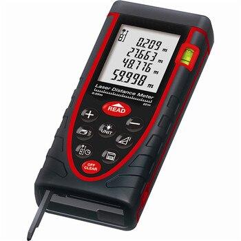 Free Shpping 60m LDM60 Laser distance meter Rangefinder Range finder Tape measure with Bubble level tool OEM wholesale