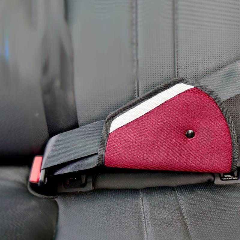 Clip Car Child Safety Cover Holder Shoulder Harness Strap Seat Belts Triangle