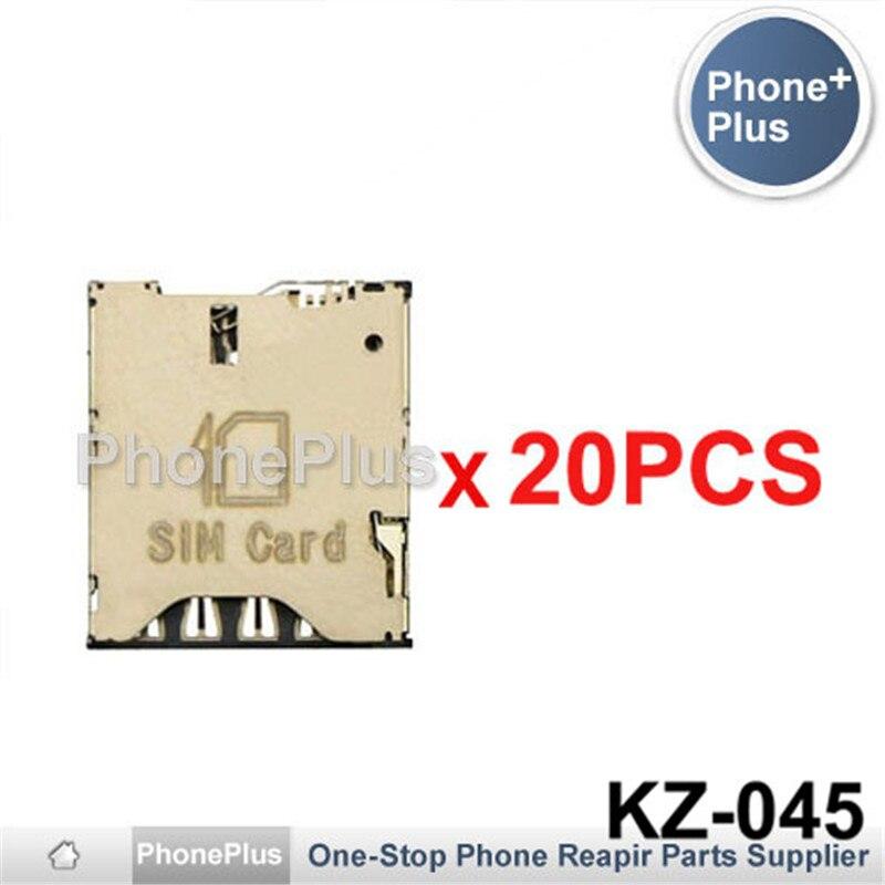 20/50/100PCS For HTC One S Z520e T528W T528T T528D 8S Desire 300 700 SIM Card Tray Slot Holder Socket Connector Repair Part