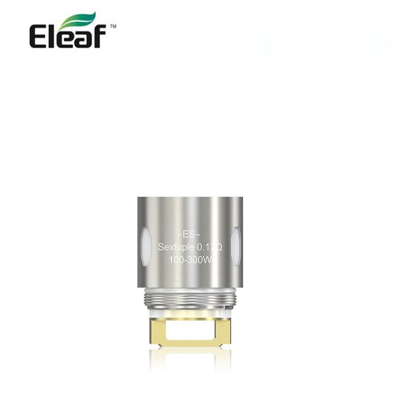 5 шт./лот ES Sextuple 0.17ohm головка 100-300 Вт Подходит для Eleaf MELO 300 Танк совместим с VW, Bypass и Smart режимами
