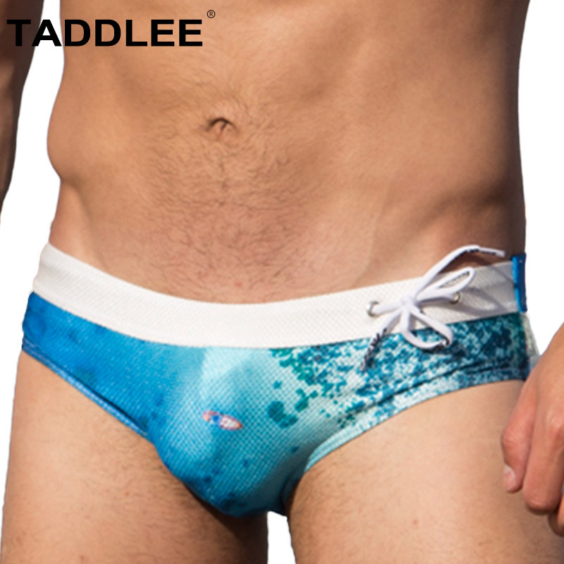 Taddlee Brand Sexy Men s Swimming Briefs Boxer Bikini Swimwear Men Swimsuits Gay Penis Pouch WJ