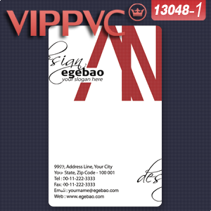 a13048 print business card Template for Card Design of Transparent PVC Card