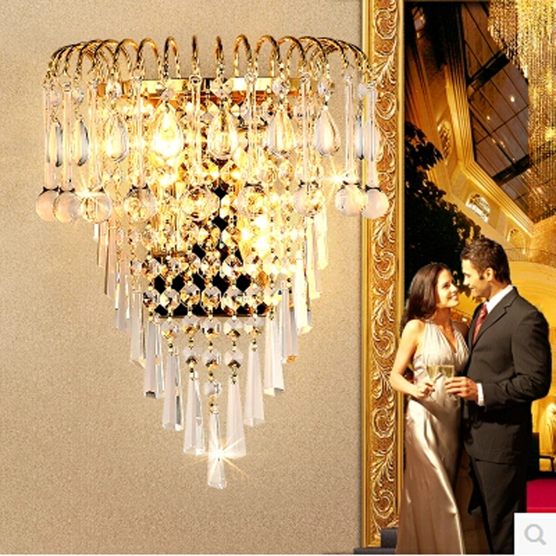 ФОТО New Modern Fashion Wall Lamps Crystal Wall Sconces Light Bed-lighting Crystals E14 Arandela Parede Light Fixtures Free Shipping