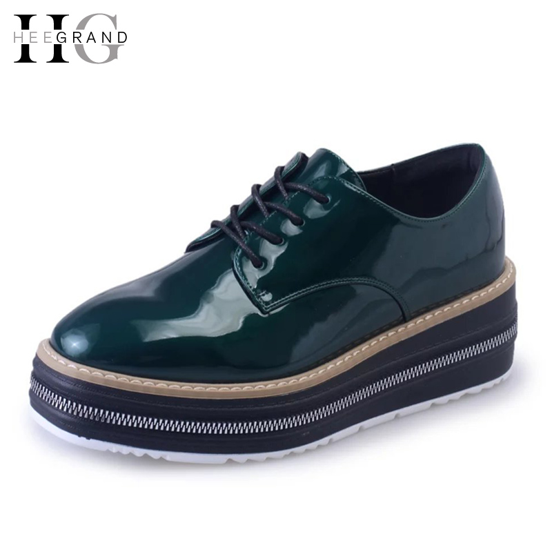 10be1daf1f3 HEE GRAND British Style Creepers 2017 Platform Shoes Woman ...