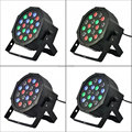 AC100-240V 18*1W Led Stage Light High Power RGB Par Light  DMX Master Slave Led Flat DJ Equipments luzes para festa disco lamp