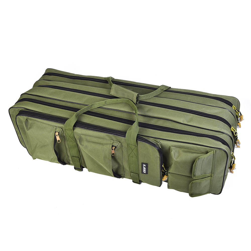 Portable Fishing Bags Folding Fishing Rods Canvas Fishing Gear Bags Storage Case Dental Fishing Leo Security & Protection