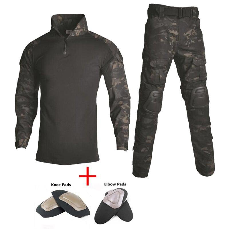 Vêtements de chasse tactiques de Camouflage en plein air pour hommes avec coudières détachables