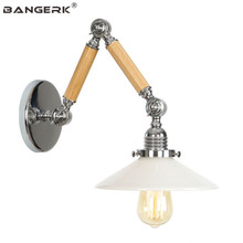 Nordic Retro Loft Style Adjust LED Wall Lamp Edison Industrial Vintage Long Arm Sconce Wall Lights Bedside Home Decor Lighting retro loft edison wall lamp bedroom vintage wall lights for home up down rustic industrial wall sconce lamparas de pared