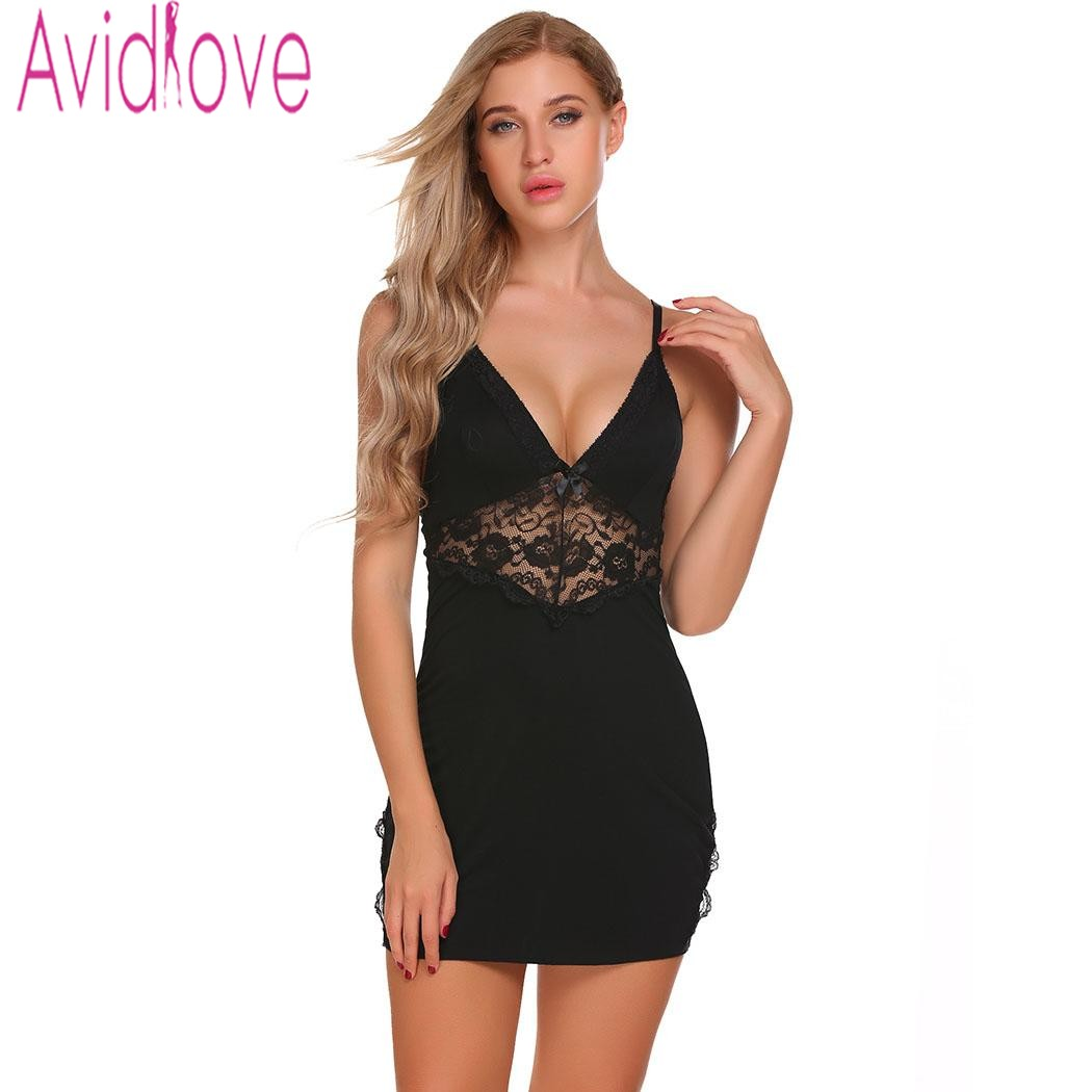 Avidlove Cotton Nightgown Women Nightwear Night Dress Female Sleeveless Lace Nighty Sexy Sleepwear Sleep Sleepshirt Home Clothes