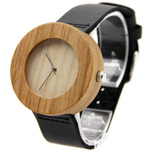 Venta caliente de Los Hombres Vestido de Reloj De Madera Relojes de Movimiento de Japón 2035 Cuarzo Natural de Madera Del Reloj Del Nuevo Diseño Del Envío Libre Al Por Mayor