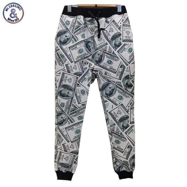 Mr.1991INC men/women 3d pants casual fashion dollars printed paper money Girl Long Length trousers Cartoon size s-xl p3