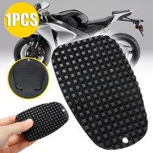 """1pc motocicleta de plástico preto kickstand suporte lateral placa base almofada 3/16 """"pequeno buraco para cruzadores esporte/bicicletas sujeira"""