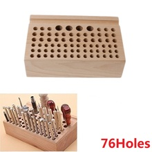 1Pcs 76-24Holes Craftool Wood Tool Stamp Stand Beech Rack Leather Holder DIY Craft Supplies 100% Brand New Quality Leathercraft
