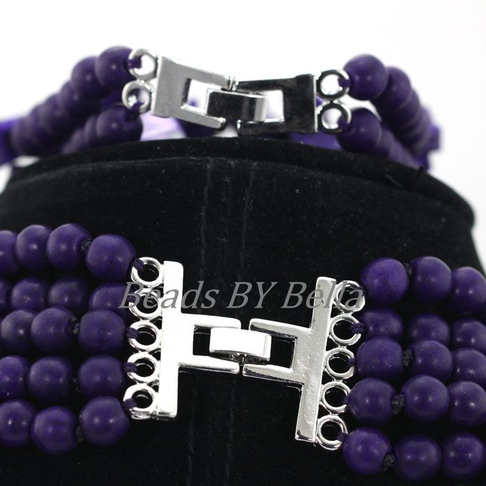 New Purple Coral Beads Nigerian Wedding Indian Bridal Jewelry Sets ...