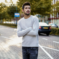 SIMWOOD Sweater Men 2017 Autumn Winter New Pullover Men Knitted Sweater Slim Fit Male Plus Size