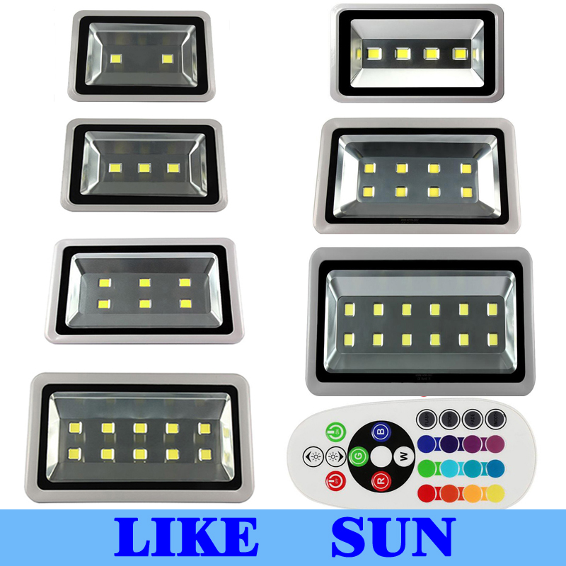 IP66 Waterproof LED Flood Light 100W 150W 200W 300W 400W 500W 600W LED Floodlight Outdoor Landscape LED Flood Lighting 30% off 2pcs ultrathin led flood light 50w black ac85 265v waterproof ip66 floodlight spotlight outdoor lighting free shipping
