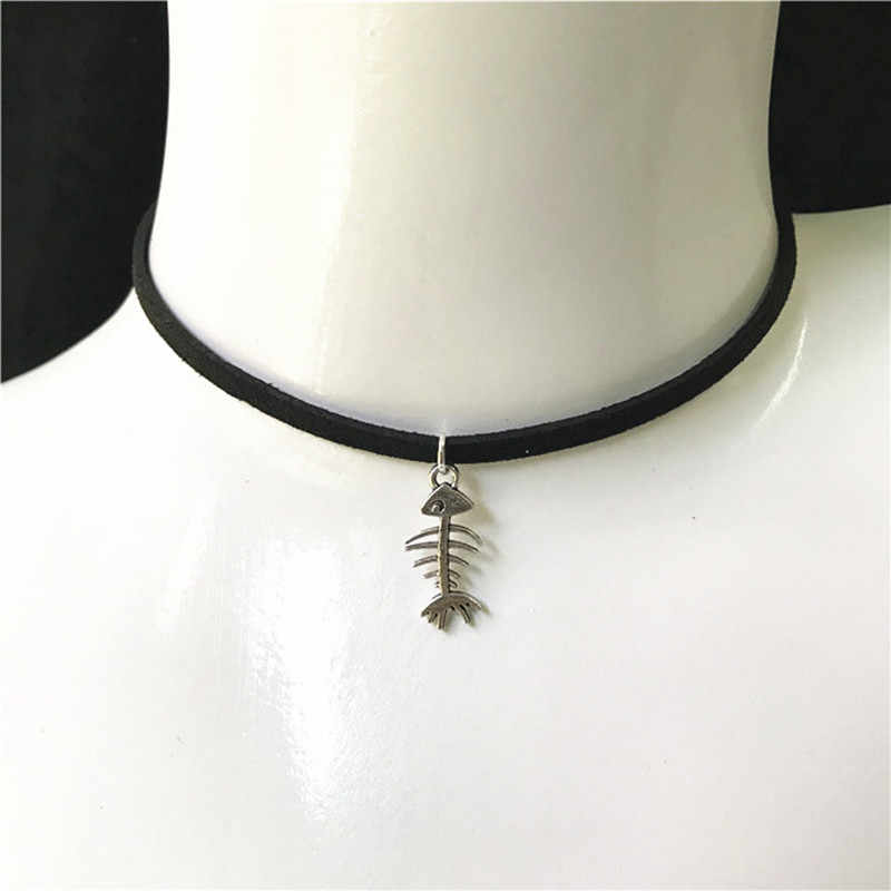 New Fashion Jewelry Simple Black Velvet Ribbon Crystal Necklace Alloy Pendant Chokers Necklace For Women 2019 Jewelry Gift
