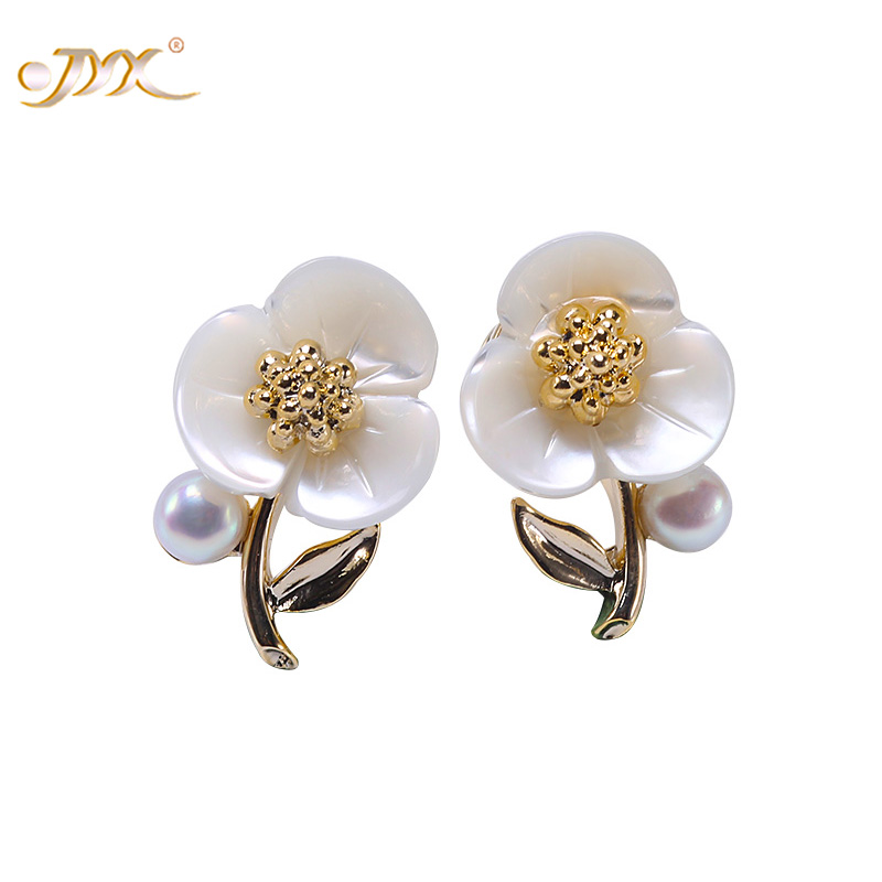 все цены на JYX Pearl Sterling Silver Earrings 925 Women Flatly Round Freshwater Pearl Stud Earings Fashion jewelry for Girls(3-3.5mm Pearl) онлайн