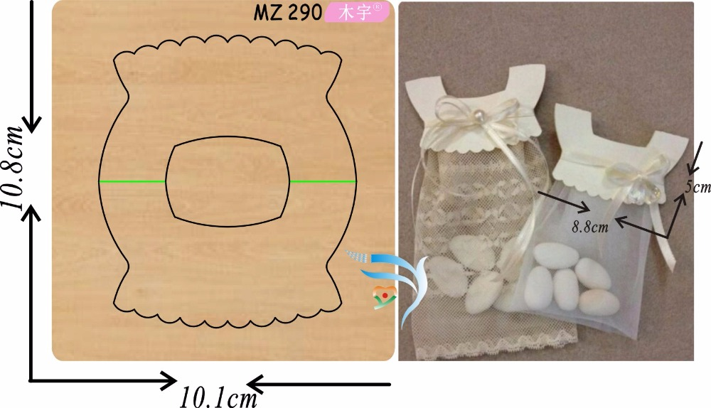 Princess skirt candy bag new wooden mould cutting dies for scrapbooking Thickness 15 8mm