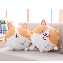 3 Kinds Corgi Plush Toy 35/45 cm Dolls For Children High Quality Soft Cotton Baby Brinquedos Animals For Gift(China)