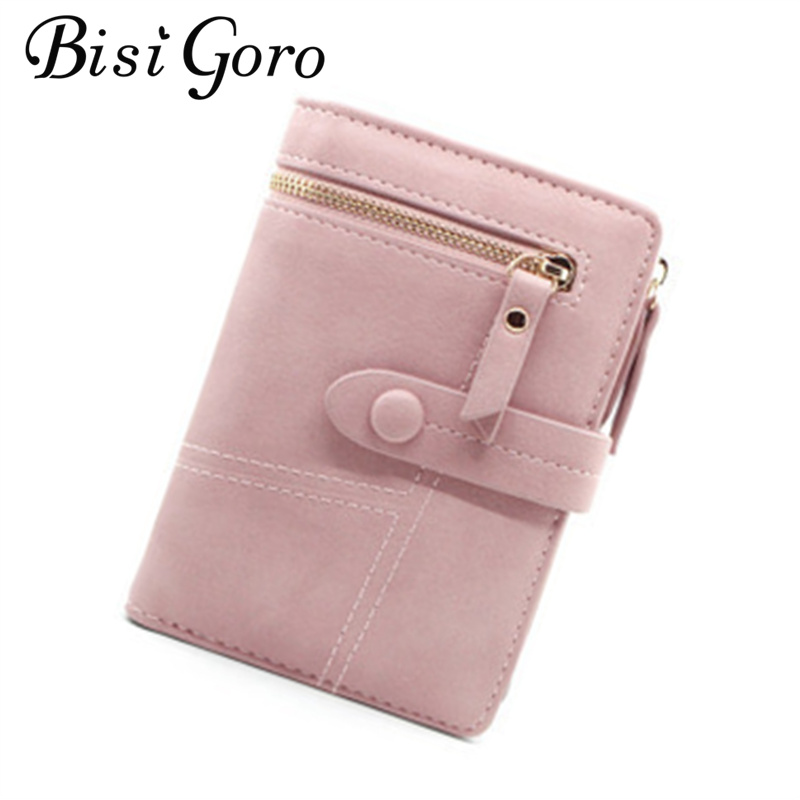 Bisi Goro Women's Wallet Short Style 2019 New Korean Version Student Folding Multifunctional Handbag Small Wallet Card Holder