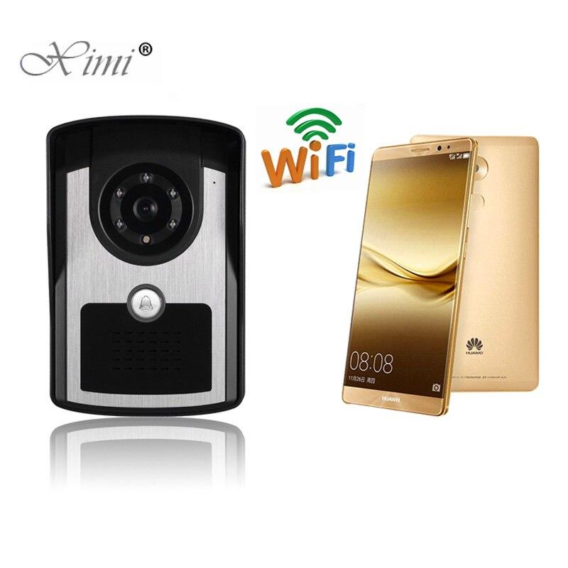 Bonne qualité Mobile WIFI vidéo porte téléphone vidéo interphone système sans fil porte contrôle sans fil télécommande vidéo porte cloche
