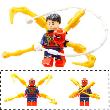 Single Super Heroes legoings Marvel Infinity War Captain American Loki Panther Spiderman Christmas Iron Man Building Blocks Toys