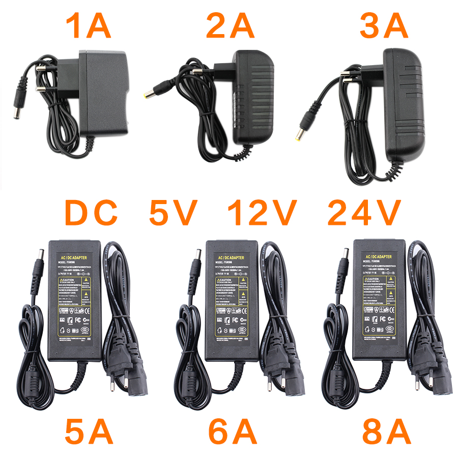 AC DC 5V <font><b>24V</b></font> 12V Power <font><b>Adapter</b></font> Supply 1A 2A 3A 5A 6A 8A 220V To 5V 12V <font><b>24V</b></font> Power Supply <font><b>Adapter</b></font> 5 12 24 V Volt Led Light Lamp image