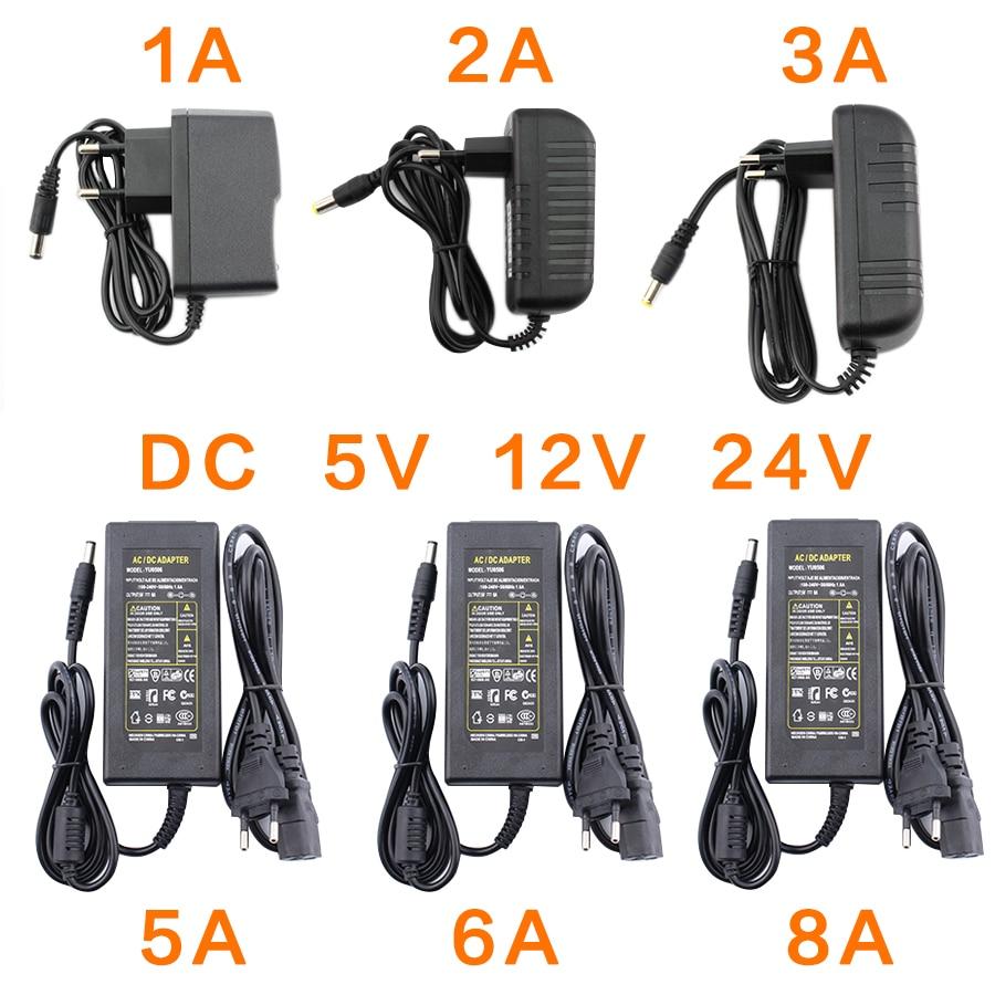 Adaptateur secteur DC 5 V 12 V 24 V 1A 2A 3A 5A 6A 8A Adaptateur D'alimentation DC 5 12 24 V Volts Alimentation 5 V 3A 5A 2A lampe à LED