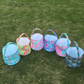 Crowne Easter Bucket , Coral Print Easter Tote, Wholesale Lilly Easter Bag , Foldable Easter Baskets DOMIL-1010432