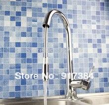 Бортике одной ручкой Кухня раковина кран бассейна Chrome смесителя кран JN8526