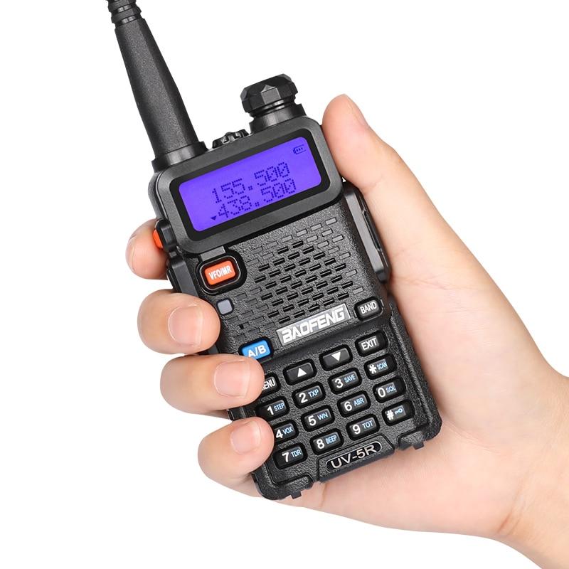 4PCS UV 5R walkie talkie dual band 136 174MHZ 400 520MHZ VHF UHF ham radio power