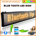 """Leadleds 40 """"x 6.3"""" Mobile APP Bluetooth Programável LEVOU a Rolagem Placa do Sinal de Mensagem de Cor Amarela"""