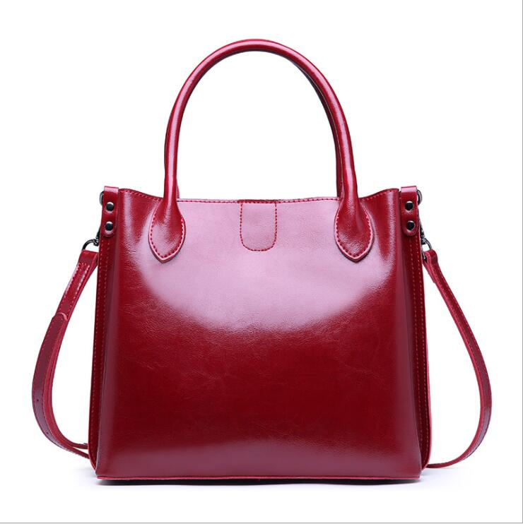 Women PU Leather Shoulder Bag Female Large Tote Handbag Business in Top Handle Bags from Luggage Bags