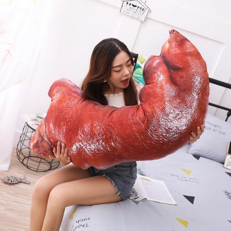 110cm grande taille jouet cochon pieds en peluche jouet mignon endormissant lit oreiller doux coussin tissu doux pour les enfants comme un cadeau de noël - 2