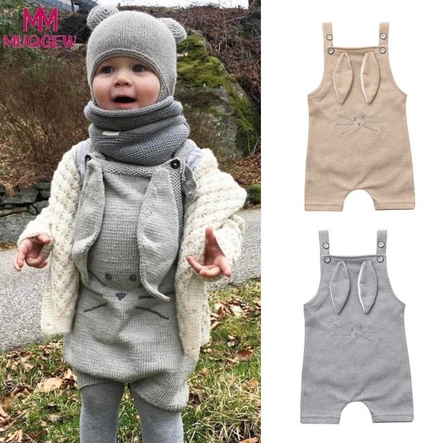 5ae9ae5453d7 Autumn Cotton Newborn Baby Girls Rompers Cartoon Knitting Romper ...