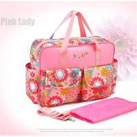 Waterproof Multifunctional Baby Diaper Bags Backpacks Mummy Bags Nappy Backpacks Baby Nappy Floral Style Traveling bag