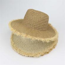70e5644b867c4 Women S Summer Beach Hat Lady Wide Large Brim Floppy Sun Straw Hat Cap Straw  Natural Brown
