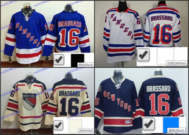 huge selection of 04656 eed58 Derick Brassard Jersey #16 NY New York Rangers blue home ...