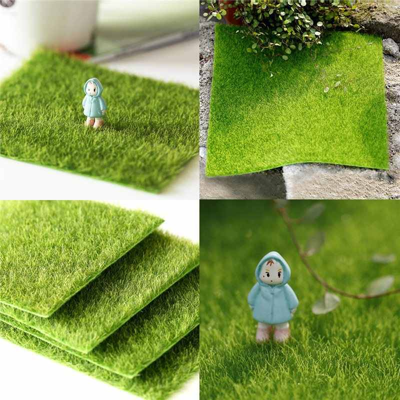 30*30cm Artificial Faux Garden Turf Grass Lawn Moss Miniature Craft Ecology Decor DIY Dollhouse Furniture Decor