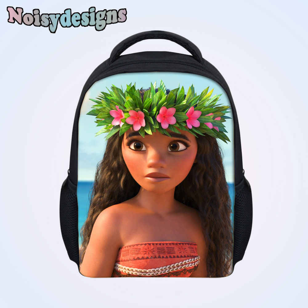 b06d5512d25 ... Children Backpack Princess Moana Cartoon Printed Baby Kids Preschool  School Book Bags Small Bag Boys Girls ...